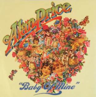 "ALAN PRICE - Baby Of Mine (7"") (Heart-Shaped Red Vinyl) (VG/VG)"